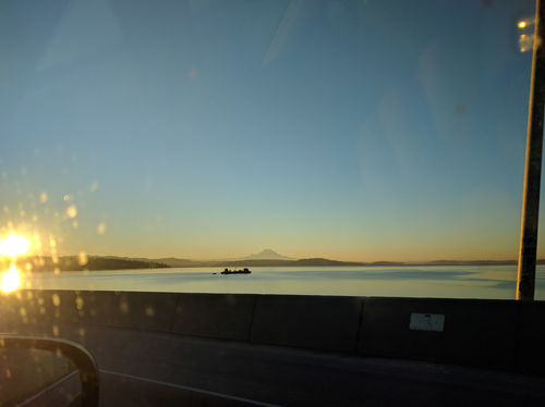 A beautiful view across Lake Washington on the way to Index