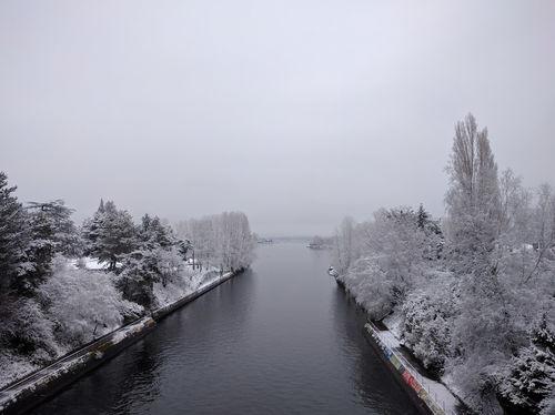 Montlake Bridge after some snow