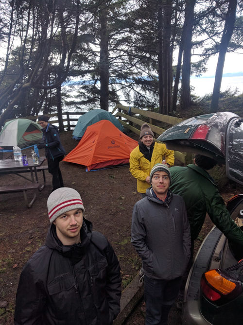 Not far from Port Angeles, we set up our tents along the coast.