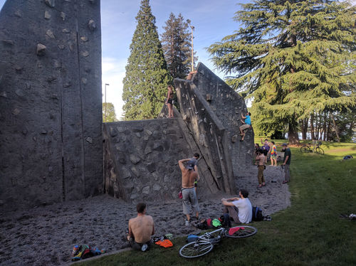 On the first day of summer the rock is the place to be.