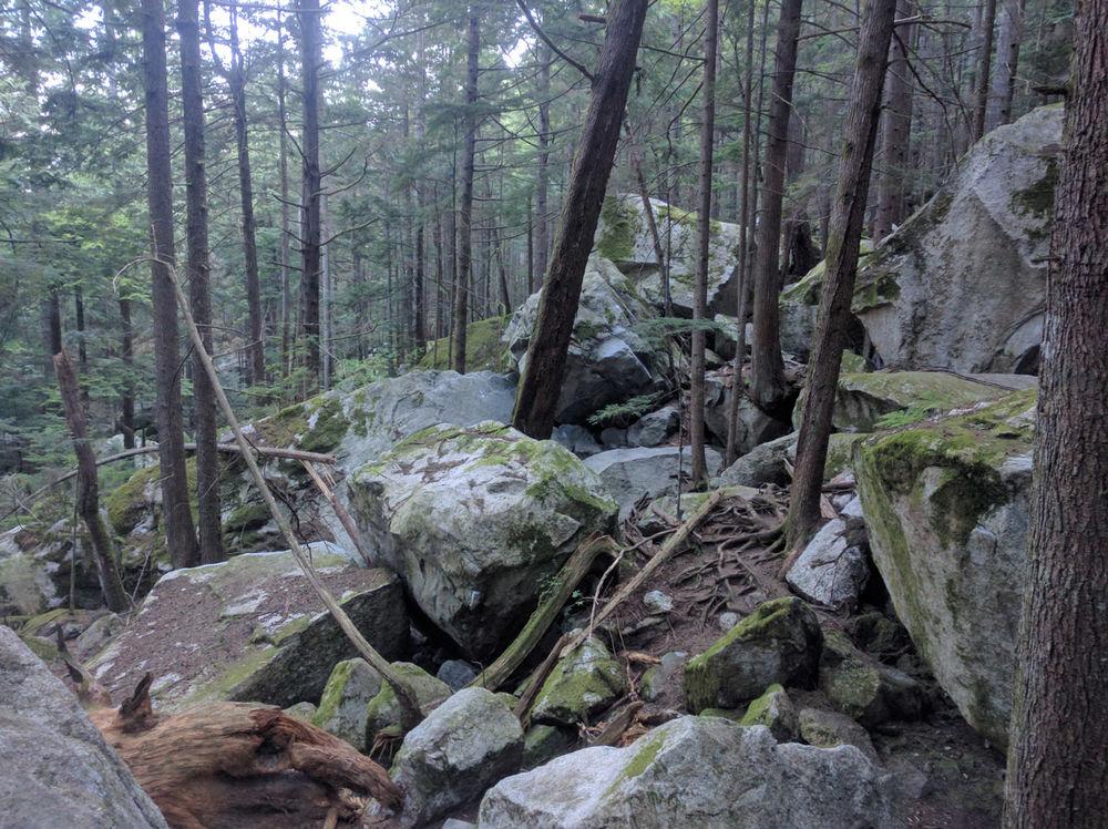 Wandering around the boulder fields under the Chief