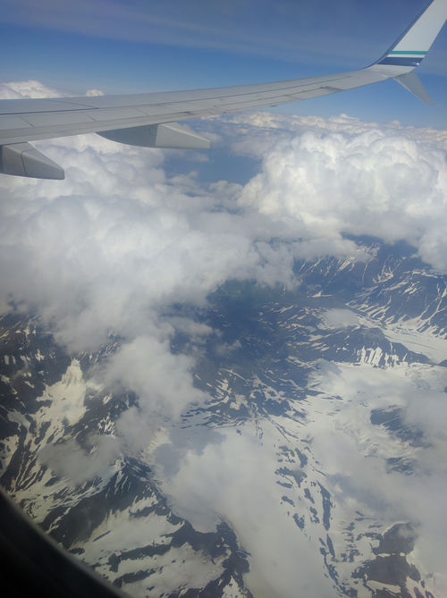 On the flight from Anchorage to King Salmon