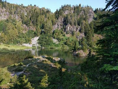 Woke up and took a dip in Marmot lake